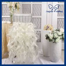 ruffled chair covers ruffled wedding chair covers gorgeous ideas