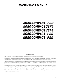 agrocompact f60 f70 f80 f90 repair manual transmission