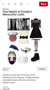 20 best fnaf marionette costume images on pinterest marionette