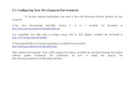 developer android sdk index html 2 setting up your android development environment ppt