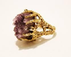 amethyst rings vintage images Vintage panetta raw amethyst ring collectors weekly jpg
