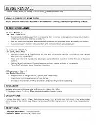 Sample Line Cook Resume by Cook Resume Template Resume Templates