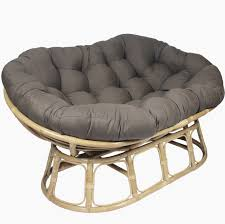 Chair Cushion Color Furniture Rattan Papasan Chair Base In Natural Color For Home