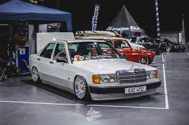 lowered mercedes 190e v8 slam sanctuary