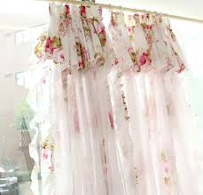 Lace Curtains Amazon Fadfay Home Textile Korean Lace Ruffle Curtains For Bedroom Living