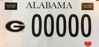 of alabama alumni car tag uga license plates car tags uga alumni association