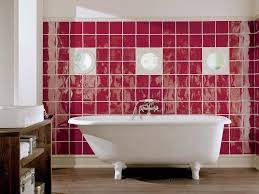 Red Bathroom Vanity Units by Bold Bathroom With Tile Patterns Combined Red Ceramic Back Splash