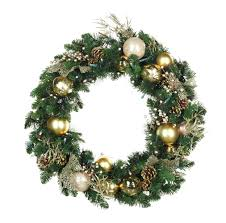 decorative wreaths royal gold battery operated led wreath warm