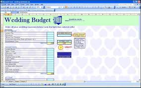 Spreadsheet Template For Budget Wedding Budget Spreadsheet Template Wedding Budget Excel