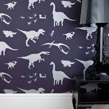 Blue And White Bedroom Wallpaper Dya Think E Saurus Dinosaur Wallpaper By Paperboy Wallpaper