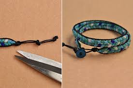 make bracelet with leather cord images Pandahall instruction on how to make leather cord wrap bracelet jpg