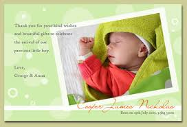 wording inside baby gift thank you cards beautiful message
