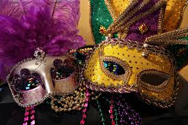 mardi gras mask and mardi gras couples reef point