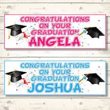 congratulations graduation banner 2 personalised 3ft x 1ft congratulations on your graduation