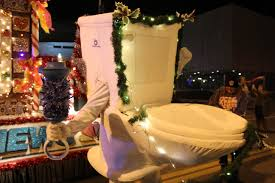 denver parade of lights 2017 yo adrian why is a toilet running in the parade of lights news