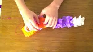 crepe paper hawaiian lei youtube