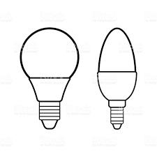 led bulbs flat linear icon light bulb energy saving lamp stock
