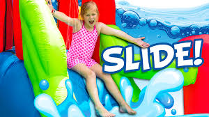 assistant inflatable water slide challenge funny and huge toys