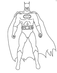 batman color pages drawing kids clip art library