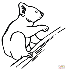 koala climbing a tree coloring page free printable coloring pages