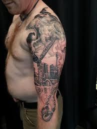 White American Flag Black And Grey Flag Tattoos Black And White American Flag Tattoo