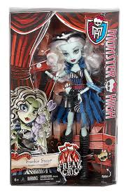 Frankenstein Monster High Halloween Costumes by Amazon Com Monster High Freak Du Chic Frankie Stein Doll Toys