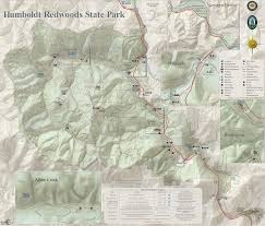 Ca State Parks Map by Humboldt Redwoods State Park Ave Giants Garberville Benbow