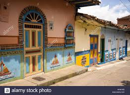 Colonial Style Home Colonial Style Home Window In Guatape Colombia South America Stock