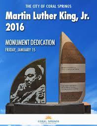 jm lexus college leadership mlk monument dedication program by city of coral springs issuu
