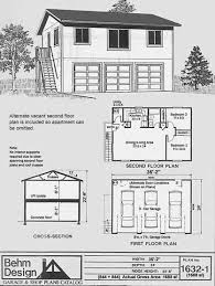 2 Bedroom Garage Apartment Floor Plans Garage Plans Three Car Two Story Garage With 2 Bedroom Apartment