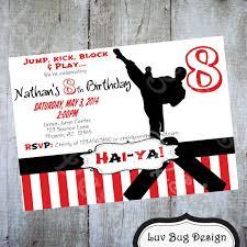 printable karate or taekwondo birthday party invitation this is a