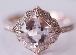 vintage crystal rings images Vintage style morganite and diamond engagement ring best jpg