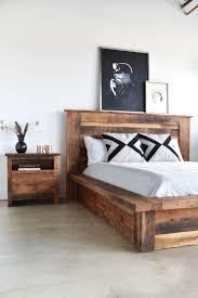 King Wooden Bed Frame Reclaimed Wood Bed Frame With Reclaimed Oak Bed Frame With King