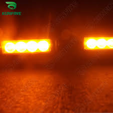 orange led light bar car led strobe light bar car warning light car flashlight led light