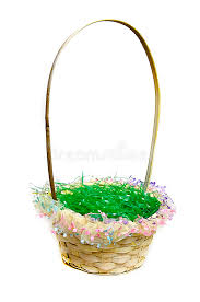 easter basket grass easter basket with green grass stock photo image of easter