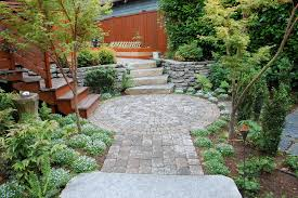 Backyard Flagstone Patio Ideas Paver Stone Patio Ideas Landscape Contemporary With Flowers Paver