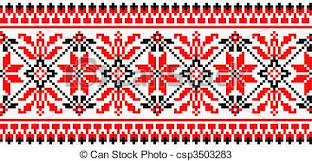 vectors of folk ornament vector illustration of folk ornament