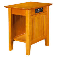 Chair Side Table Atlantic Furniture Charlotte Chair Side Table With Charging