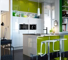 black and white modern kitchen with lime collection including