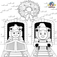free christmas coloring pages for kids printable thomas snow