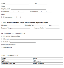 free rental lease agreement download car lease form standard car rental agreement car rental agreement