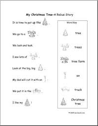 easy rebus story my tree early primary abcteach
