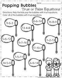 first grade worksheets for spring math worksheets equation and