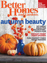 better homes and gardens october 2014 cover interiors by color