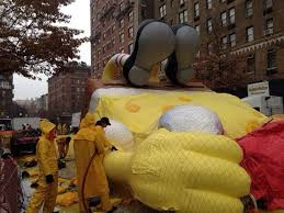 photos of the balloon blowing for 2014 macy s thanksgiving parade