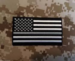 Dominican Republic Flag Patch Black U0026 White The Thin Silver Line American Flag Patch