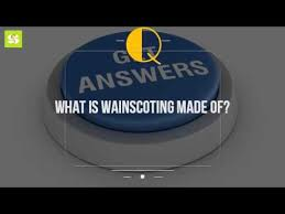 Definition Of Wainscot What Is Wainscoting Made Of Youtube