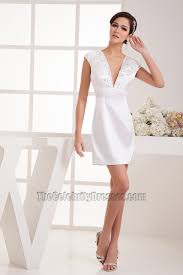 discount white short v neck party homecoming dresses