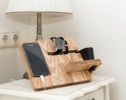 Desk With Charging Station Charging Dock Etsy