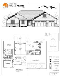 House Plans With Three Car Garage 1849 R Spokane House Plans